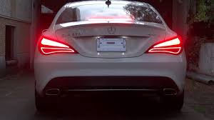 light pink mercedes mercedes cla 2015 with dynamic turn signal by carkom pl youtube
