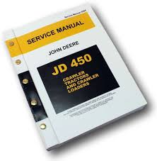 john deere 450 crawler tractor dozer loader service manual repair