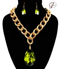 big pendant necklace images Big crystal olive green teardrop necklace inspired by kyle jpg