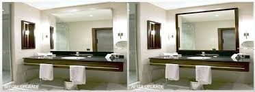 How To Frame A Bathroom Mirror Frame Bathroom Mirror With Glass Tile Framing Framed Mirrors For