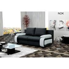 canapé convertible nok noir et blanc achat vente canapé sofa