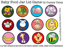baby food jar lid game oopsey daisy