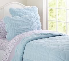 Pottery Barn Kids Quilts Ruffle Velvet Quilt Blue Twin Pottery Barn Kids