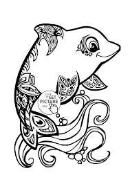 unbelievable design dolphin animal coloring pages two cute sea