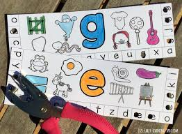 alphabet punch cards with beginning sounds liz u0027s early learning spot
