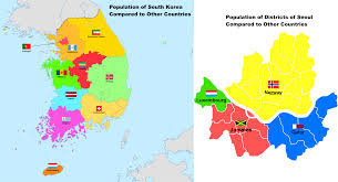 Map Of South Korea Population Of South Korea And Seoul Compared To Other Countries