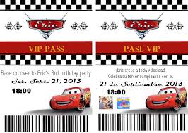 free printable disney cars birthday party invitations homemade