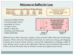 raffle ticket printing paper raffle tickets online