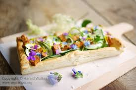 edible flower garnish springtime zucchini tart with edible flower garnish vegalicious