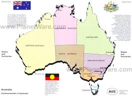 map of australia with cities and states map of australia states and territories planetware in with capital