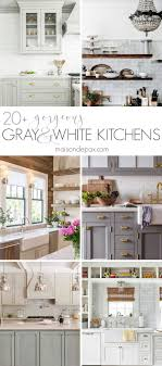 what tile goes with white cabinets 20 gorgeous gray and white kitchens maison de pax