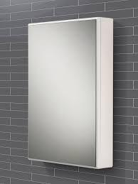 tulsa slimline white single door mirrored cabinet 500 x 700mm