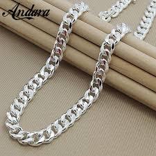chain necklace hip hop images Mens 22 inch 55cm 10mm hip hop chain necklace silver color jewelry jpg
