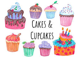 Decorate Your Own Cupcake Hand Drawn Cake And Cupcakes Clipart Doodle Cake Clip Art Hand