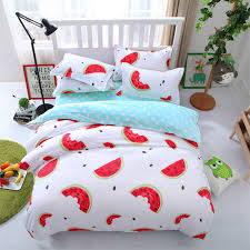 pineapple lemon watermelon strawberry fruit bedding set queen