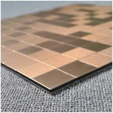 Copper Tiles For Kitchen Backsplash Peel U0026 Stick Metal Tiles For Kitchen Backsplashes Copper Brushed