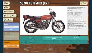 suzuki gt250 x7 added to vintage parts programme morebikes