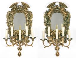 Mirrored Wall Sconce with Edward F Caldwell And Co Pair Of Renaissance Revival Gilt Bronze