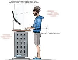 proper standing desk posture splendid design ergonomic standing desk ergonomics drk architects desk
