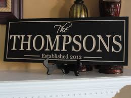 wedding gift name sign family name sign personalized sign custom wooden signs last name