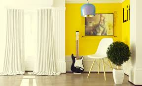 yellow home decor home office