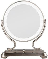 Polished Nickel Vanity Mirror Best 5x Lighted Magnifying Makeup Mirrors