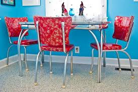 Retro Vinyl Dining Chairs 23 Red Dinette Sets Vintage Kitchen Treasures Retro Renovation