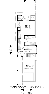 narrow cottage plans plan 6989am home plan for a narrow lot architectural