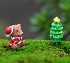 Fairy Garden Craft Ideas - aliexpress com buy christmas tree bear decoration miniature