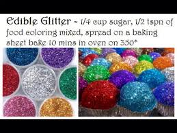 ediable glitter diy how to make edible glitter store in sealed container to