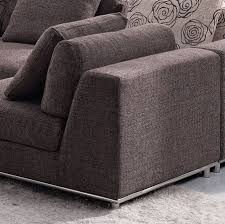 Modern Sectional Sofa Bed by Contemporary Modern Brown Fabric Sectional Sofa Tos Anm9708 2