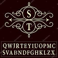 monogram design elements graceful template letter s t m r e