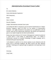 example cover letter for administrative assistant hitecauto us