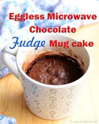 eggless microwave fudge mug cake recipe raks kitchen