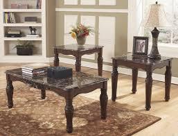 three piece table set ashley 3 piece coffee table set big ben