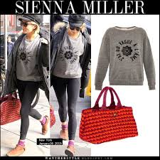 where to buy raffia what she wore miller in grey slogan sweatshirt with