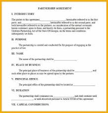 6 business partnership agreement contract bursary cover letter