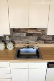 easy backsplash for kitchen diy backsplash made from reclaimed shipping pallets cut into 18