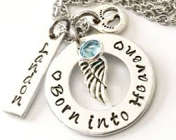 remembrance jewelry baby born into heaven etsy