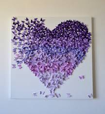 3d purple ombre butterfly heart art made to order hundreds of 1