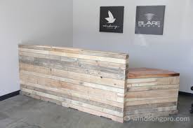 Gray Reception Desk Reclaimed Reception Desk Windsong Productions