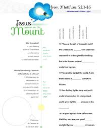 you are the light of the world sermon worksheet to teach jesus sermon on the mount from matthew chapter 5