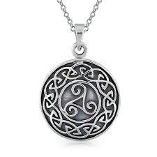 medallion pendant necklace images Sterling silver celtic knot medallion pendant jpg
