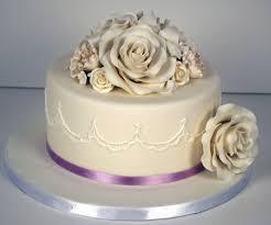 single tier wedding cakes with roses fondant cakes pinterest