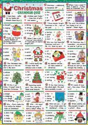 grammar sheets for christmas u2013 fun for christmas