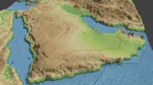 Arabian Peninsula Map 3d Asset Arabian Peninsula Surface Cgtrader
