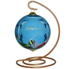 dolphins and turtles hawaii ornament by design