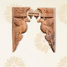 wooden bird wall bracket