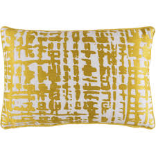 Modern Abstract Check Gold Yellow Decorative Pillow – Sky Iris