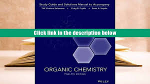 free download organic chemistry 12e study guide student